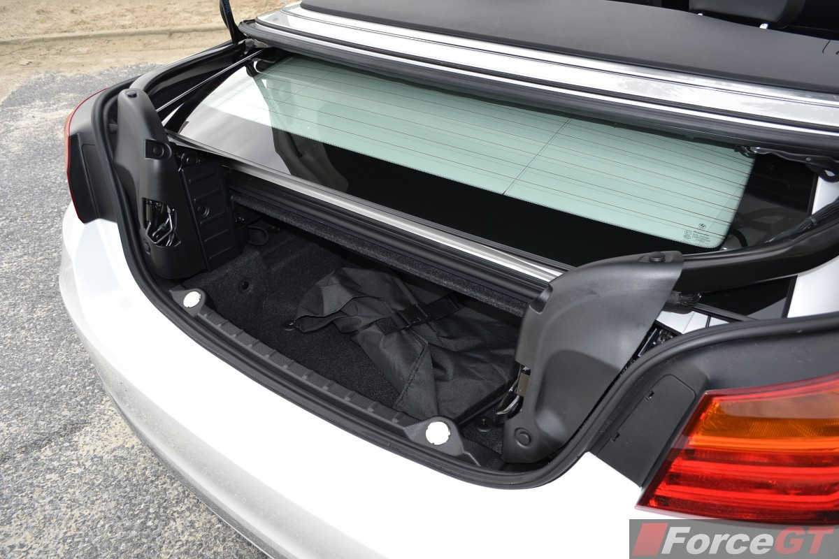 2014 Bmw 4 Series Convertible Boot Space Top Down 1