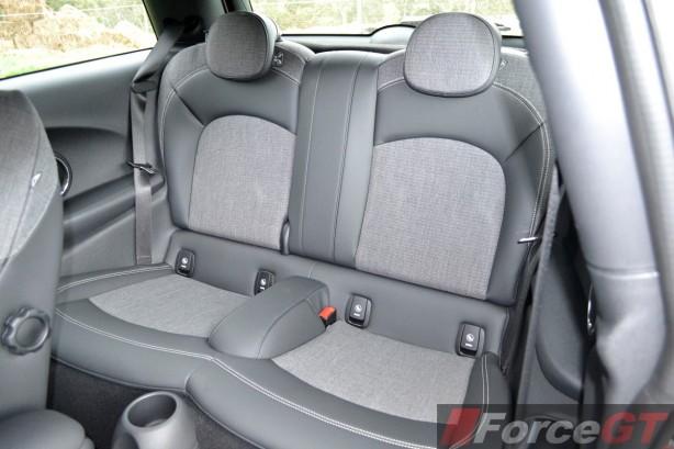 2014 MINI Cooper S rear seats
