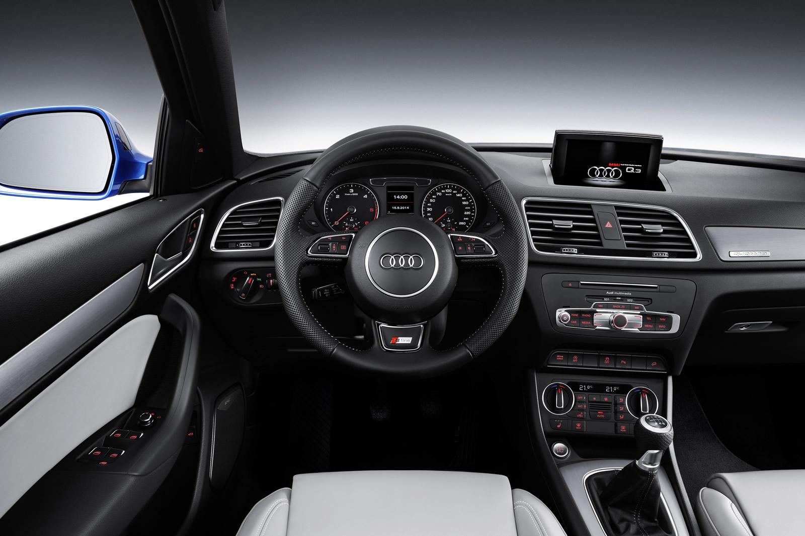 2015 audi q3 facelift s line dashboard 1. Black Bedroom Furniture Sets. Home Design Ideas