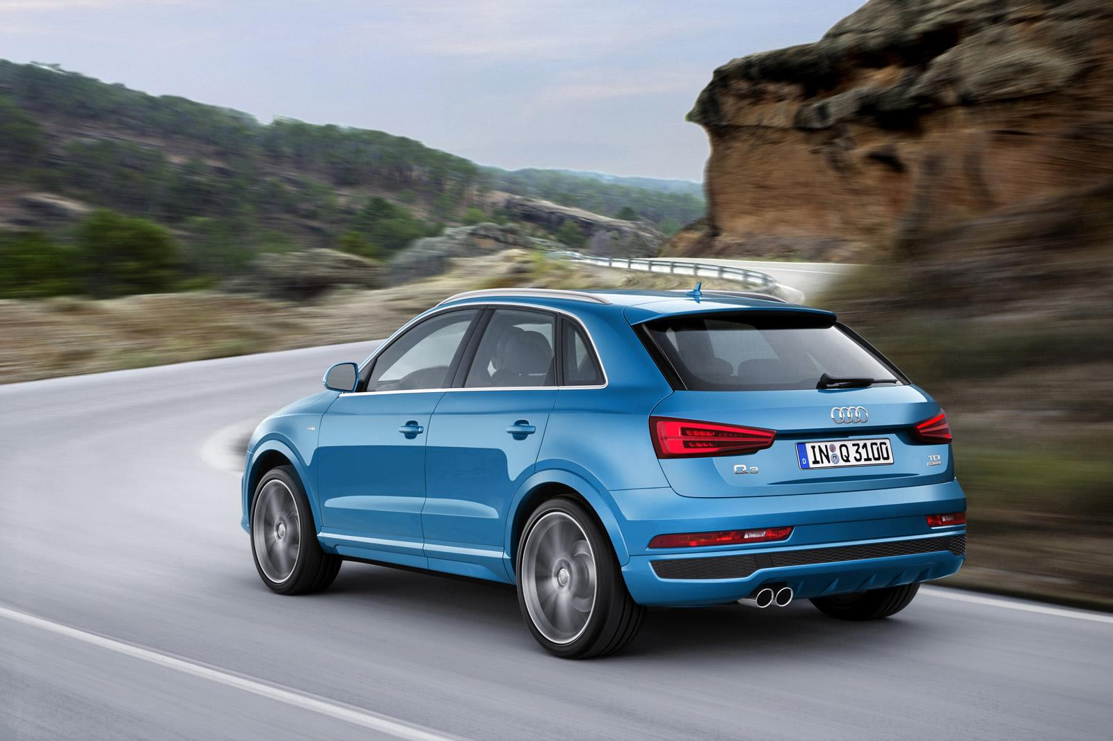audi cars news 2015 q3 facelift unveiled rs q3 boosted to 250kw 450nm. Black Bedroom Furniture Sets. Home Design Ideas