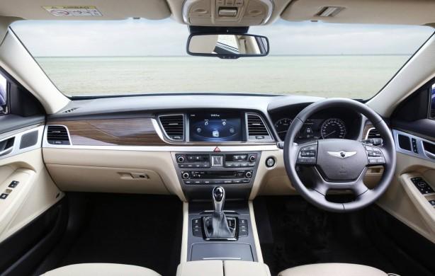 Hyundai Genesis sedan dashboard
