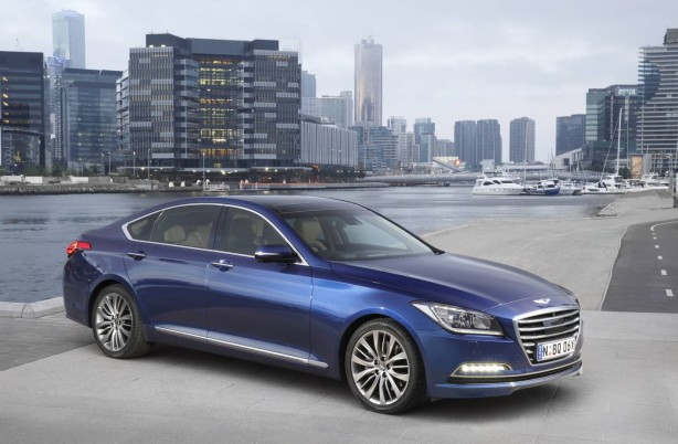 Hyundai Genesis sedan front quarter