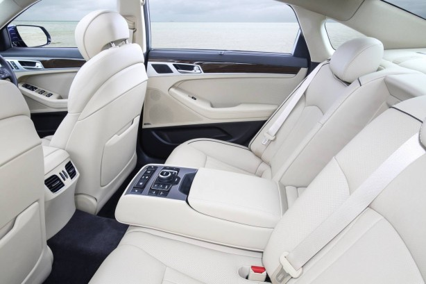 Hyundai Genesis sedan interior rear seats