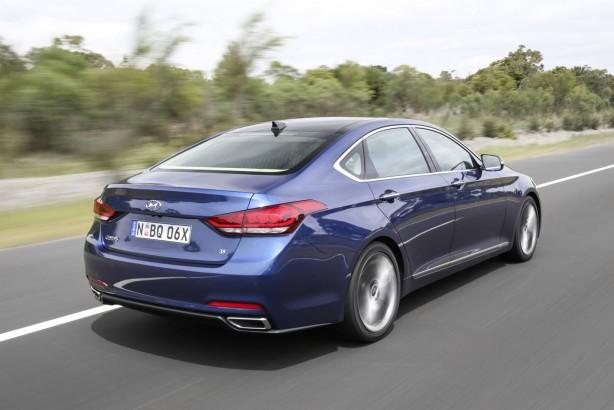 Hyundai Genesis sedan rear quarter