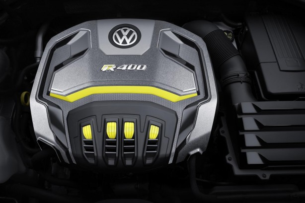 Volkswagen Golf R400 concept engine