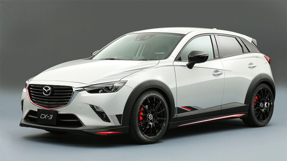 mazda cx 3 hotted up for 2015 tokyo auto salon. Black Bedroom Furniture Sets. Home Design Ideas