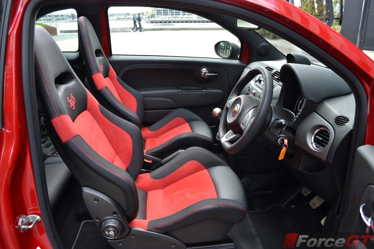2015 Abarth 595 Competizione Convertible Interior