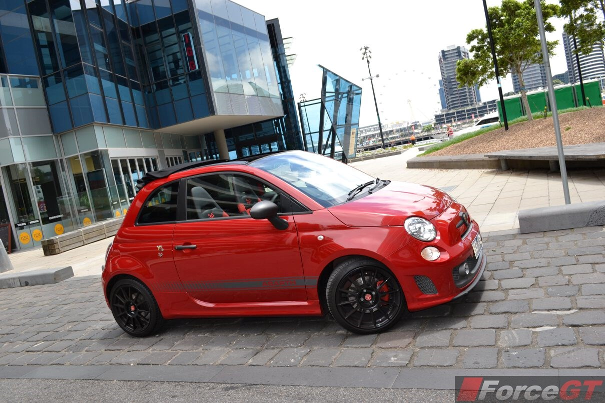 2015 abarth 595 competizione convertible side. Black Bedroom Furniture Sets. Home Design Ideas
