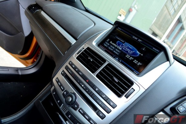 2015 Ford Falcon XR8 8-inch SYNC2 infotainment system
