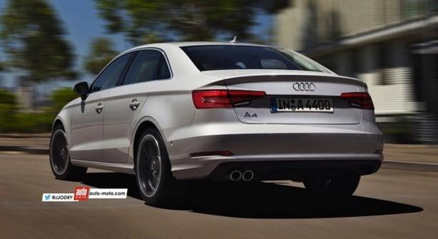 2016 Audi A4 render rear