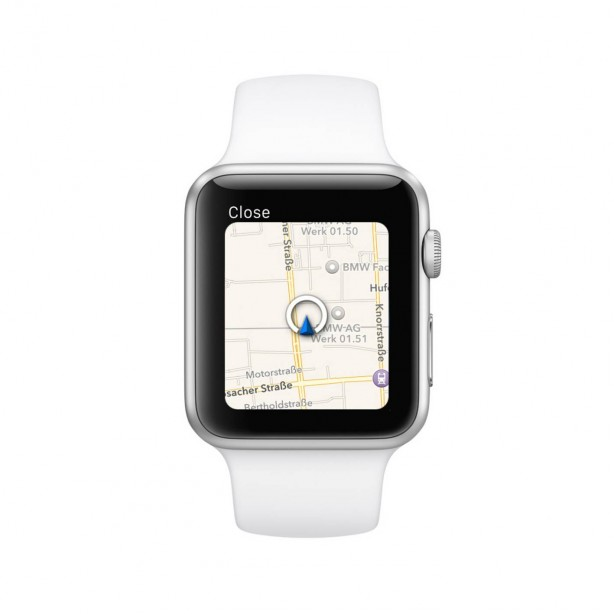 BMW i Remote App for Apple Watch navigation