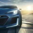 Subaru STI Performance concept headlight and LED light