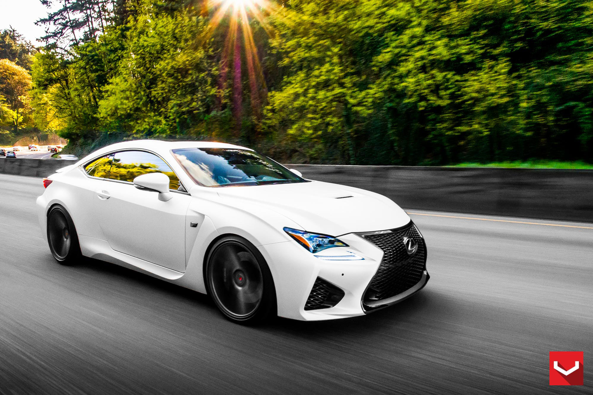 Tweaked: Lexus RC F in Matte White and Vossen VPS 311 ...