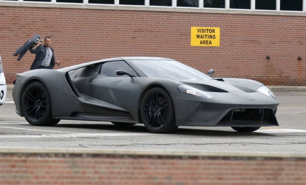 2016 Ford GT prototype front quarter