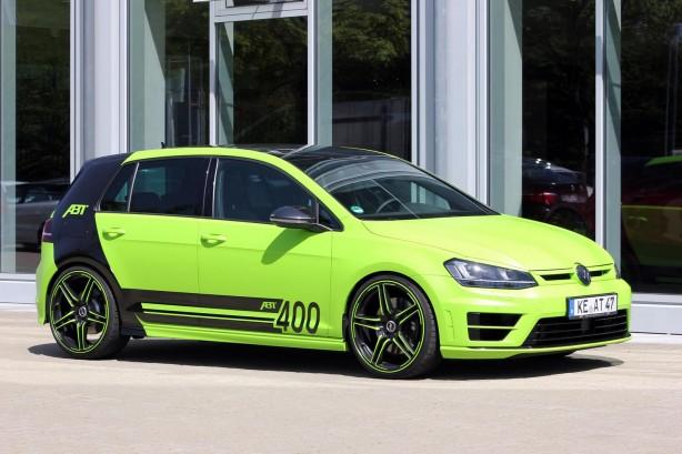 ABT tuned Volkswagen Golf R 400 front quarter