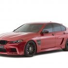 Hamann-tuned BMW M5 Mi5Sion maroon front quarter-1