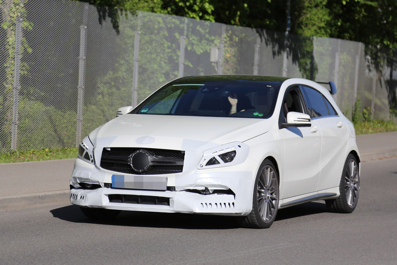 more powerful mercedes a45 amg on the way. Black Bedroom Furniture Sets. Home Design Ideas