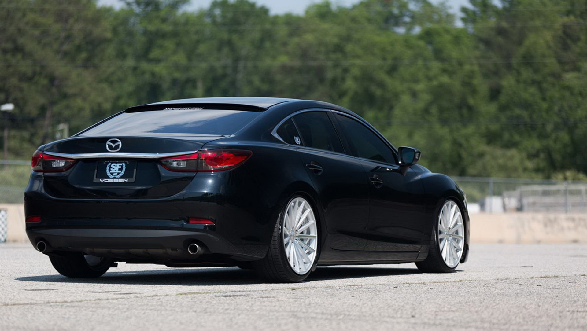 mazda tuning mazda6 goes aggressive with vossen wheels. Black Bedroom Furniture Sets. Home Design Ideas