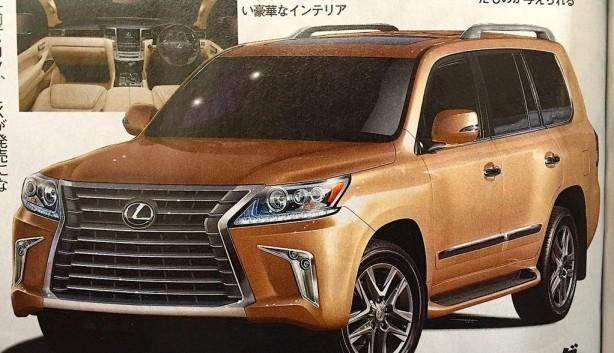 2016 Lexus LX leaked image