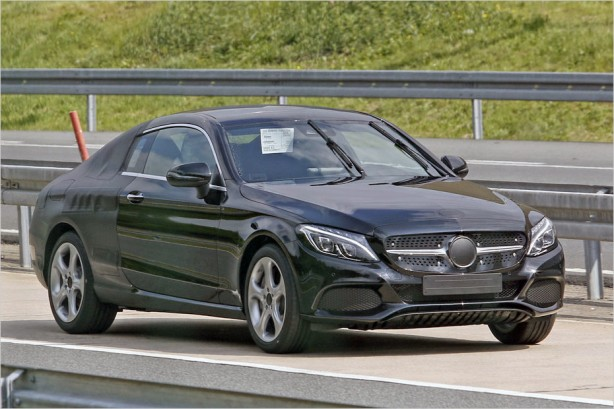 2016-mercedes-c-class-coupe-spied-front-quarter