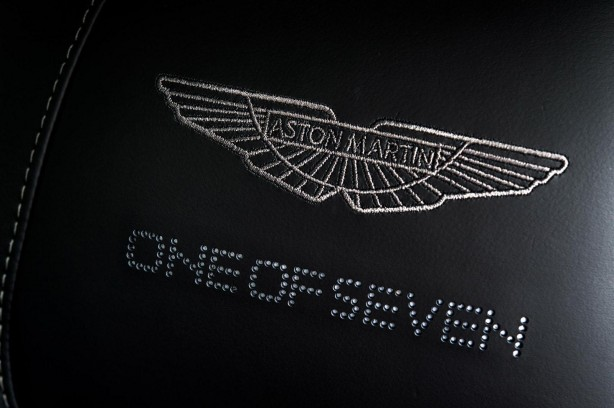 Aston Martin Vanquish One of Seven seat embroidery