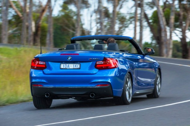BMW M235i Convertible rear quarter