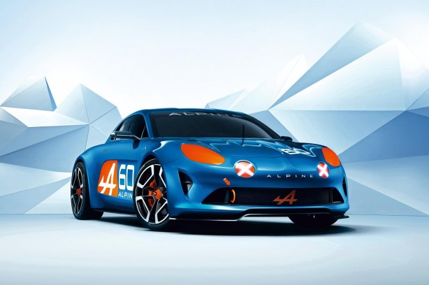 Renault Alpine Celebration concept front quarter