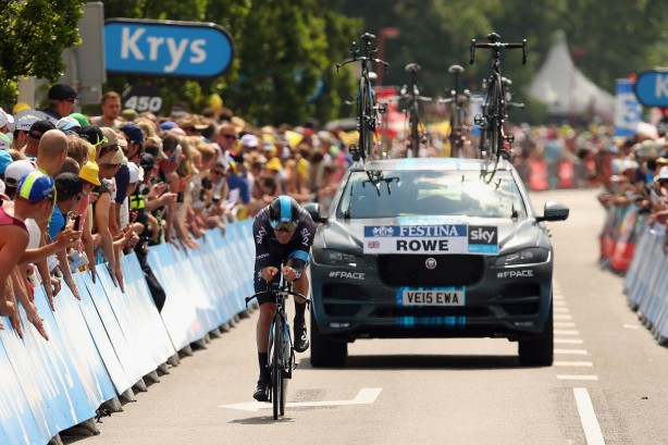 Jaguar F-PACE Team Sky support vehicle front