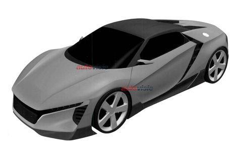 Mid-size Honda NSX patent image front quarter