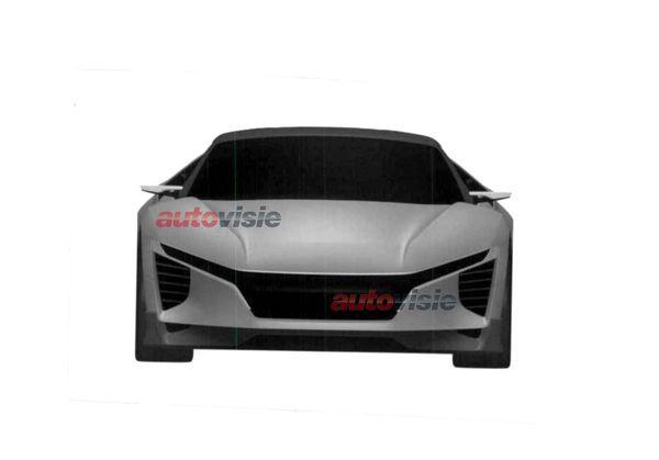 Mid-size Honda NSX patent image front