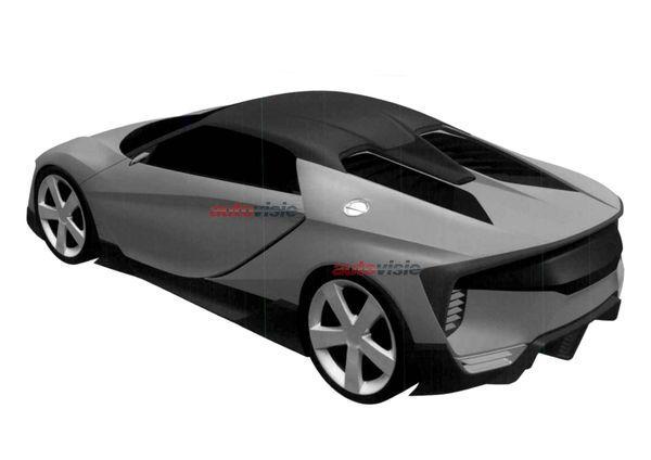 Mid-size Honda NSX patent image rear quarter