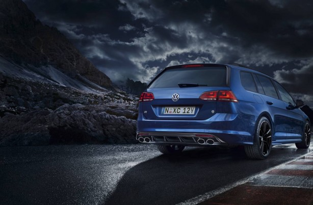 Volkswagen Golf R Wagon Wolfsburg Edition rear quarter