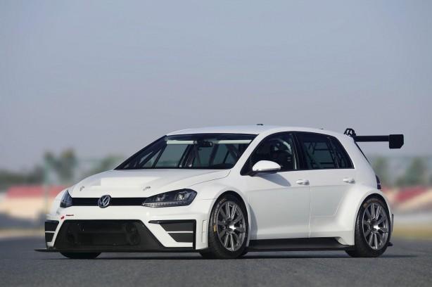 Volkswagen Motorsport Golf racing concept front quarter