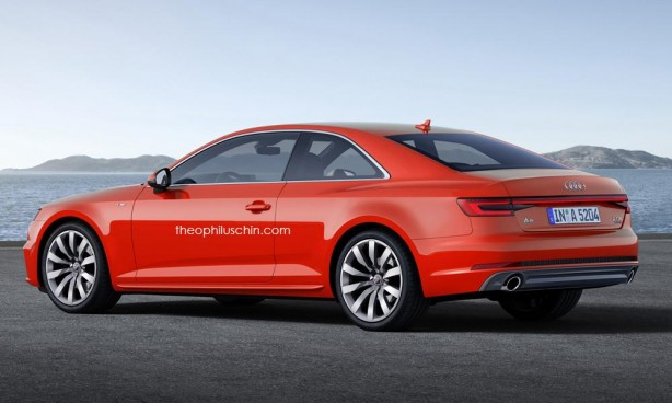 2016 Audi A5 render rear quarter