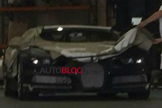 2016 Bugatti Veyron prototype spy photo