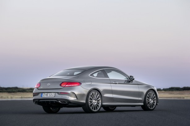 2016 Mercedes C-Class Coupe rear quarter