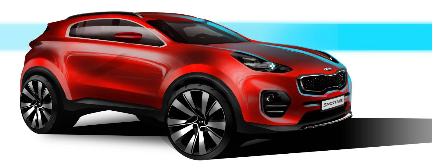 all new 2016 kia sportage to bow in at frankfurt show. Black Bedroom Furniture Sets. Home Design Ideas