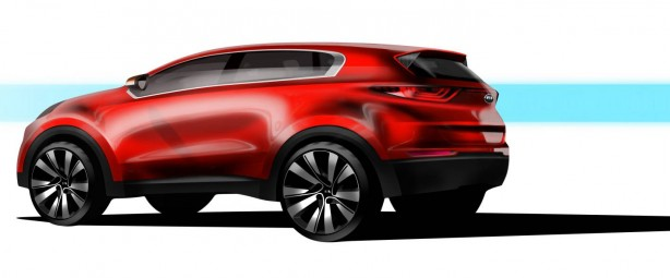 All-new Kia Sportage sketch rear quarter