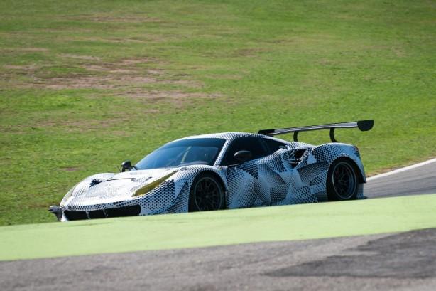 Ferrari 488 GTE prototype front quarter