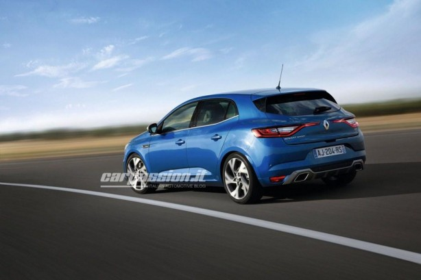 2016 Renault Megane rear quarter leaked