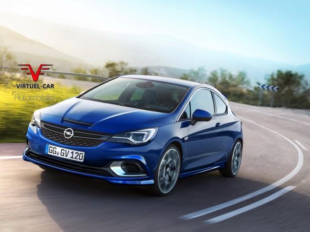 2017 Opel Astra OPC rendering front quarter