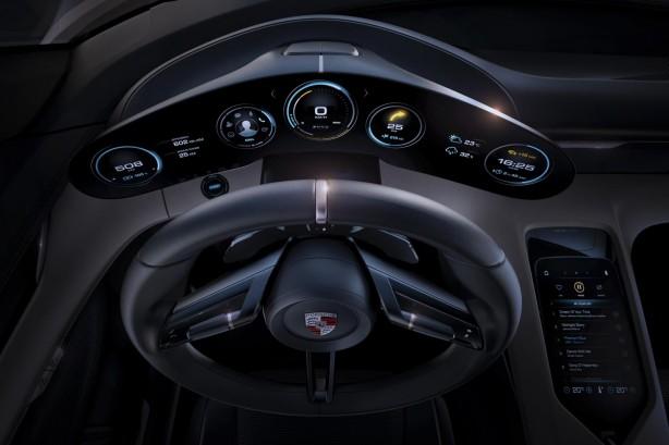 Porsche Mission E concept instruments