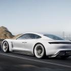 Porsche Mission E concept rear quarter-1