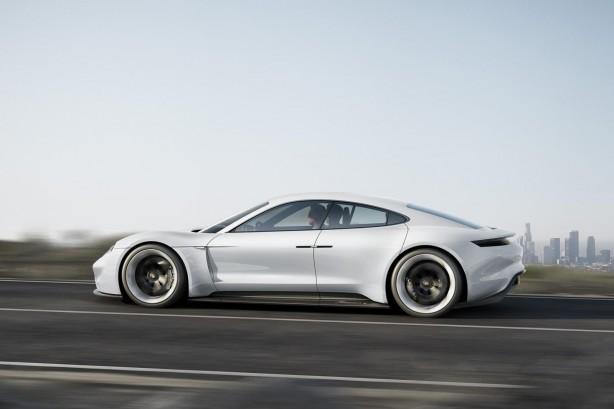 Porsche Mission E concept side