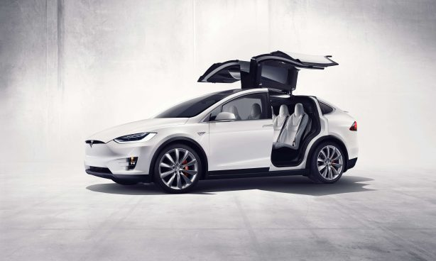 Tesla Model X Falcon Wing rear doors