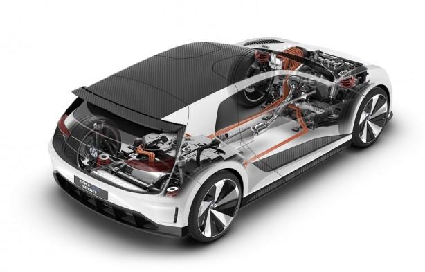 Volkswagen Golf GTE Sport Concept hybrid powertrain-1