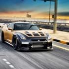 ADV 1 Carbon Gold Nissan GT-R front quarter-1