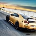 ADV 1 Carbon Gold Nissan GT-R rear quarter-1