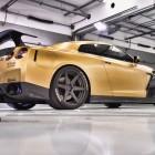 ADV 1 Carbon Gold Nissan GT-R rear quarter-2
