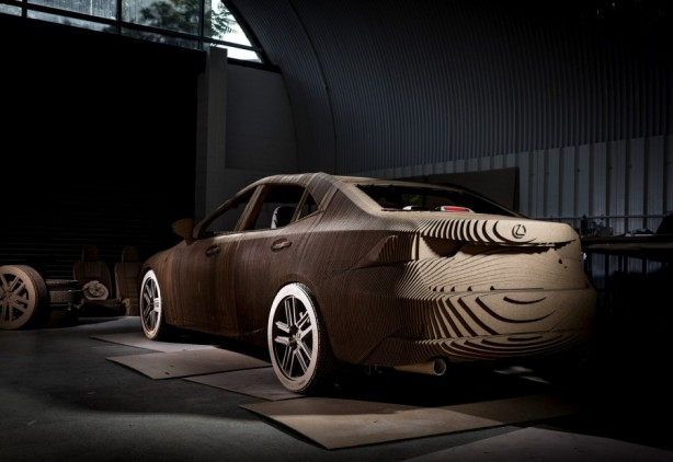 Lexus-IS-Carboard-Origami-Edition-rear